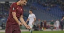 Europa League, adrenalina giallorossa: la Roma batte 4-1 il Plzen trascinata da un Dzeko super