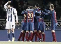 El Barça rompe la maldición de Anoeta