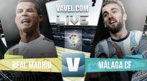 Real Madrid vs Málaga en vivo online (1-0)