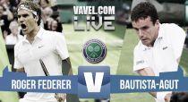 Roger Federer vs Roberto Bautista en vivo y en directo online en Wimbledon 2015