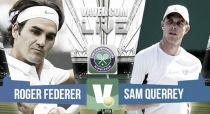 Roger Federer vs Sam Querrey en vivo y en directo online en Wimbledon 2015