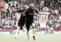 Stoke City 1-4 Manchester City: Aguero, Nolito braces help City join United at Premier League summit