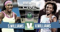 Serena Williams vs Venus Williams en vivo y en directo online en Wimbledon 2015