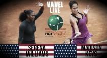 Serena Williams - Madison Keys, finale del Masters di Roma 2016 (2-0)