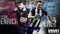 Sergi Enrich - Lucas Pérez: duelo de delanteros