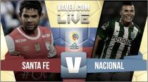Santa Fe igualó con Nacional y dejó todo para resolverse en Medellín (1-1)