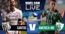 Resultado Santos x América-MG pelo Campeonato Brasileiro 2016 (1-0)