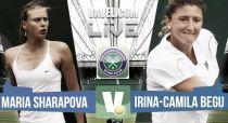 María Sharapova vs Irina-Camelia Begu en vivo y en directo online en Wimbledon 2015 (1-0)