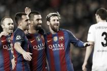 Com hat-trick de Arda Turan, Barcelona goleia Gladbach e avança como líder isolado