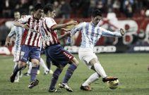 El último encuentro en El Molinón entre Sporting y Málaga
