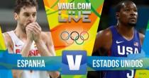Resultado Espanha x Estados Unidos pelo basquete masculino nos Jogos Olímpicos