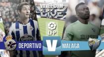 Deportivo 3-3 Málaga: remontadas continuas y un punto para cada uno