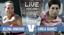 Carla Suárez vs Jelena Jankovic en vivo y en directo online en Copa Federación 2016 (0-0)