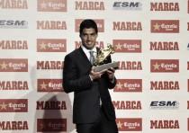Luis Suárez, un Bota de Oro emocionado