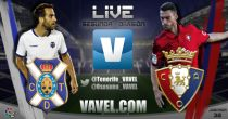 Resultado CD Tenerife - CA Osasuna en vivo (2-1)
