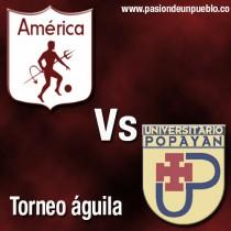Universitario de Popayán vs América de Cali en vivo online en partido Torneo Águila 2016 (0-1)