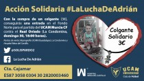 El UCAM Murcia CF se suma a #LaLuchaDeAdrián