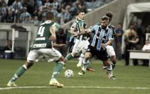 Grêmio empata com líder Palmeiras na Arena e mantém jejum de vitórias no Brasileirão