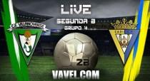 Resultado Villanovense - Cádiz en Segunda División B 2016 (2-2)