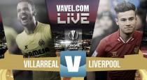 Villarreal vs Liverpool en vivo online en Europa League 2016 (1-0)