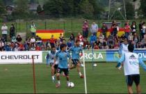 Penúltimo entrenamiento de La Roja antes de viajar a Saint Gallen