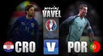 Embalada Croácia encara irregular Portugal por uma vaga nas quartas da Eurocopa