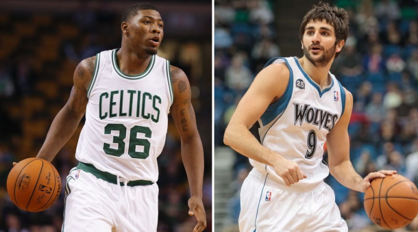 Marcus Smart, Ricky Rubio Out With Ankle Sprains