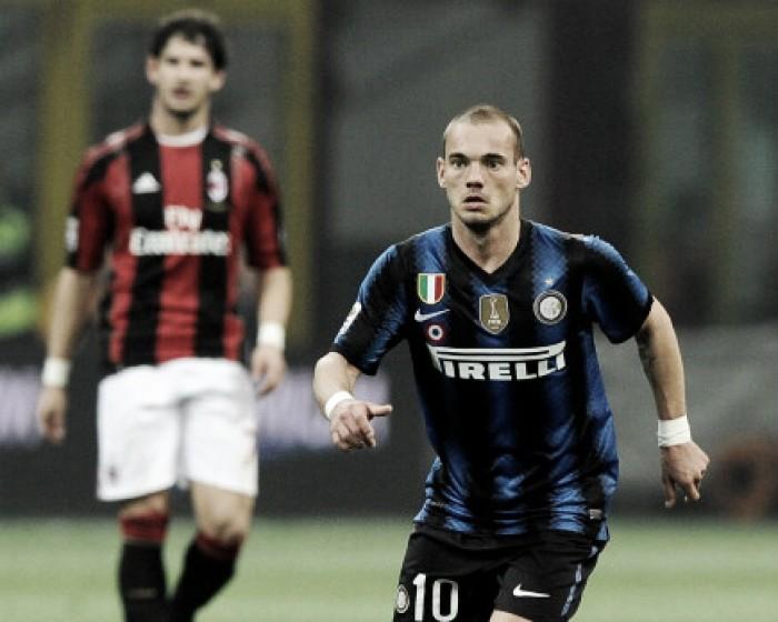 Sneijder revela desejo de jogar no Milan e causa fúria de torcedores da Internazionale
