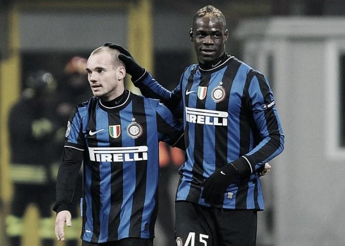 Sneijder acerta detalhes e reeditará dupla com Balotelli no Nice