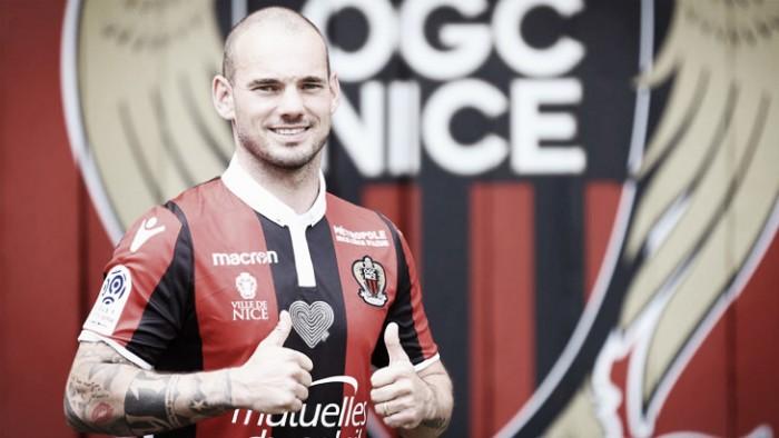 Camisa 10 do Nice, Sneijder é apresentado e projeta 'novos desafios'