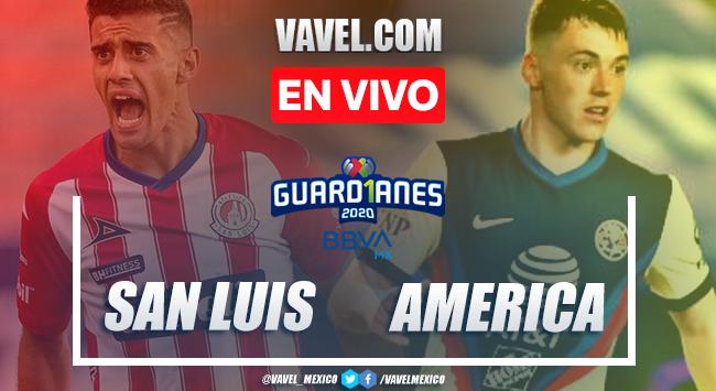 Goles y resumen del San Luis 1-2 América en la jornada 7 del Guard1anes 2020
