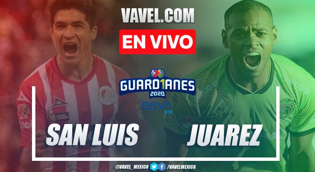 Goles y resumen del partido Atlético de San Luis 1-1 FC Juárez en Liga MX 2020