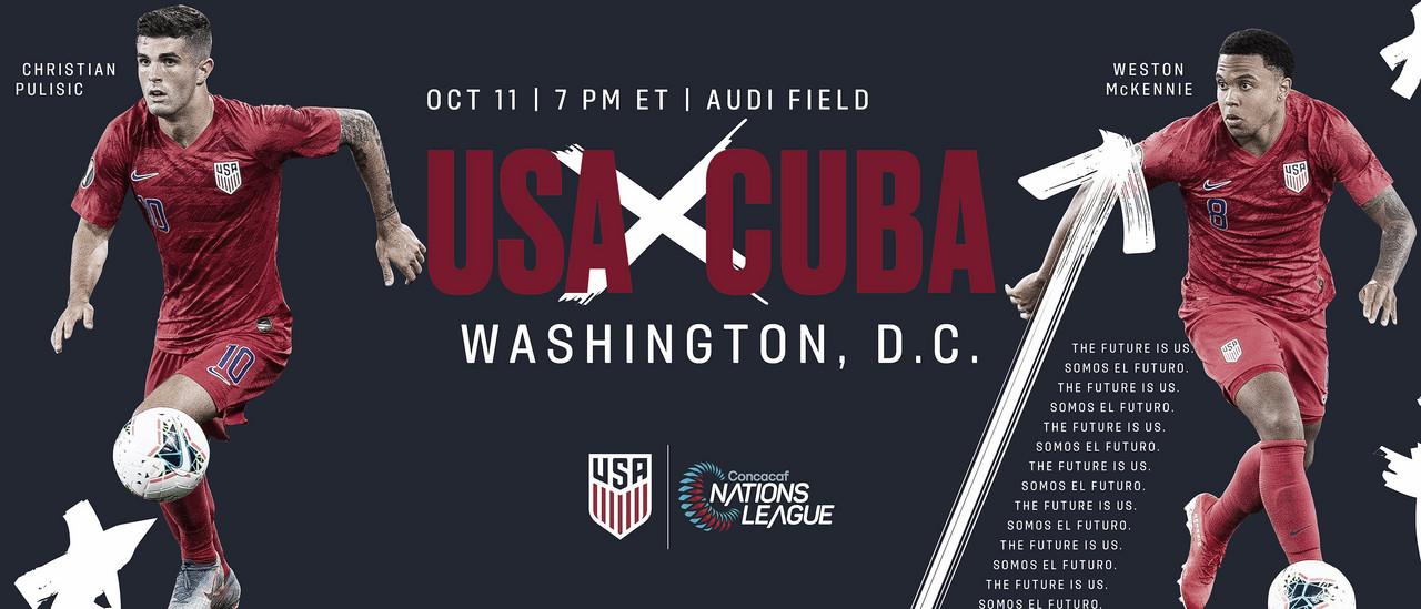Estados Unidos jugará con Cuba en el debut
