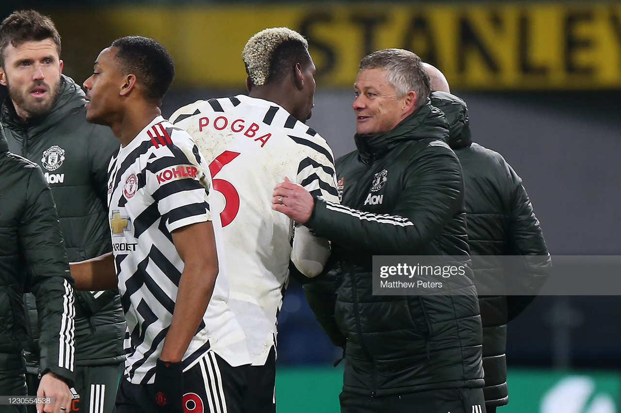 Solskjaer post-match comments Top of the table and Pogba praise
