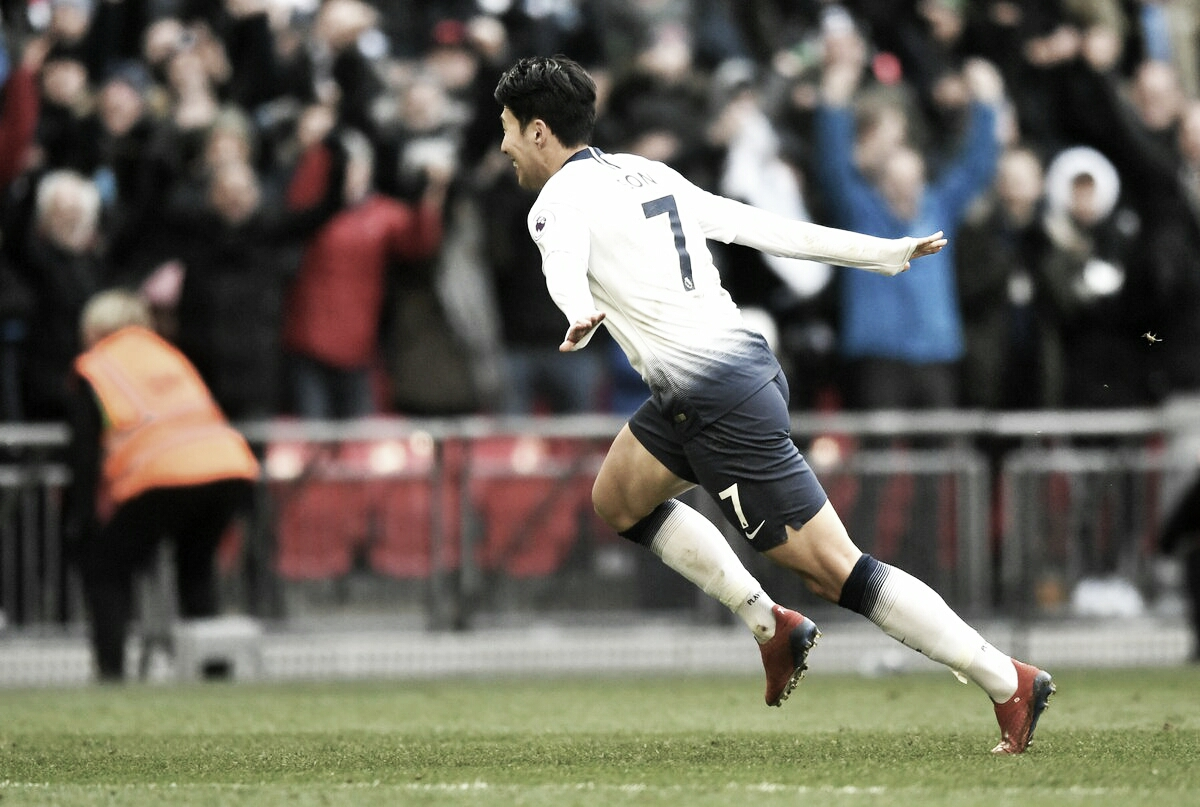 Son marca no fim e Tottenham vence Newcastle em Wembley