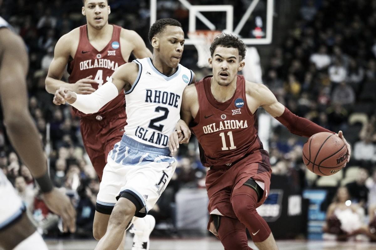 Trae Young brilha, mas Rhode Island elimina Oklahoma no March Madness
