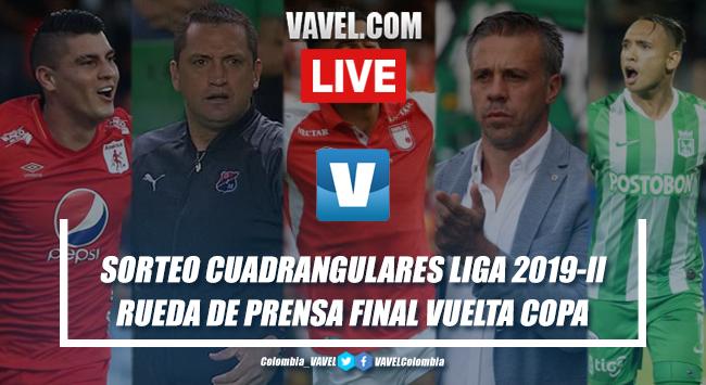 Resumen: sorteo cuadrangulares Liga Aguila 2019-II