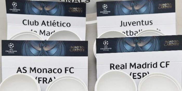 Champions League, sorteggio semifinali: per la Juve c'è il Monaco