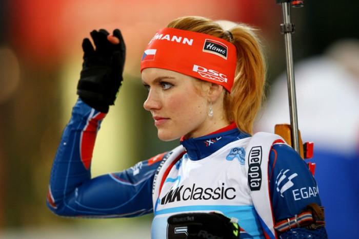 Biathlon inseguimento femminile: vince Koukalova, ma che Wierer!