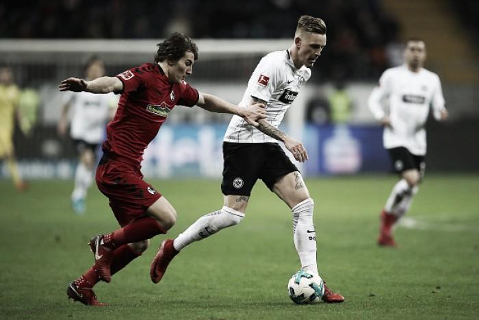 Eintracht Frankfurt é superior, mas apenas empata com Freiburg na Bundesliga