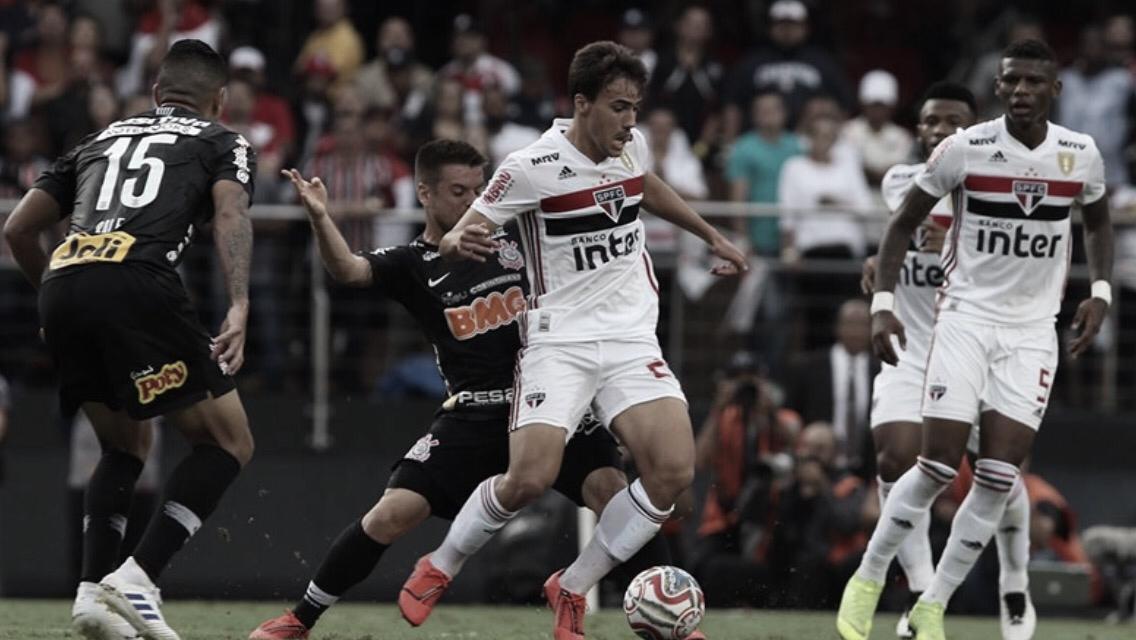 São Paulo e Corinthians apenas empatam sem gols no jogo de ida da final do Paulistão