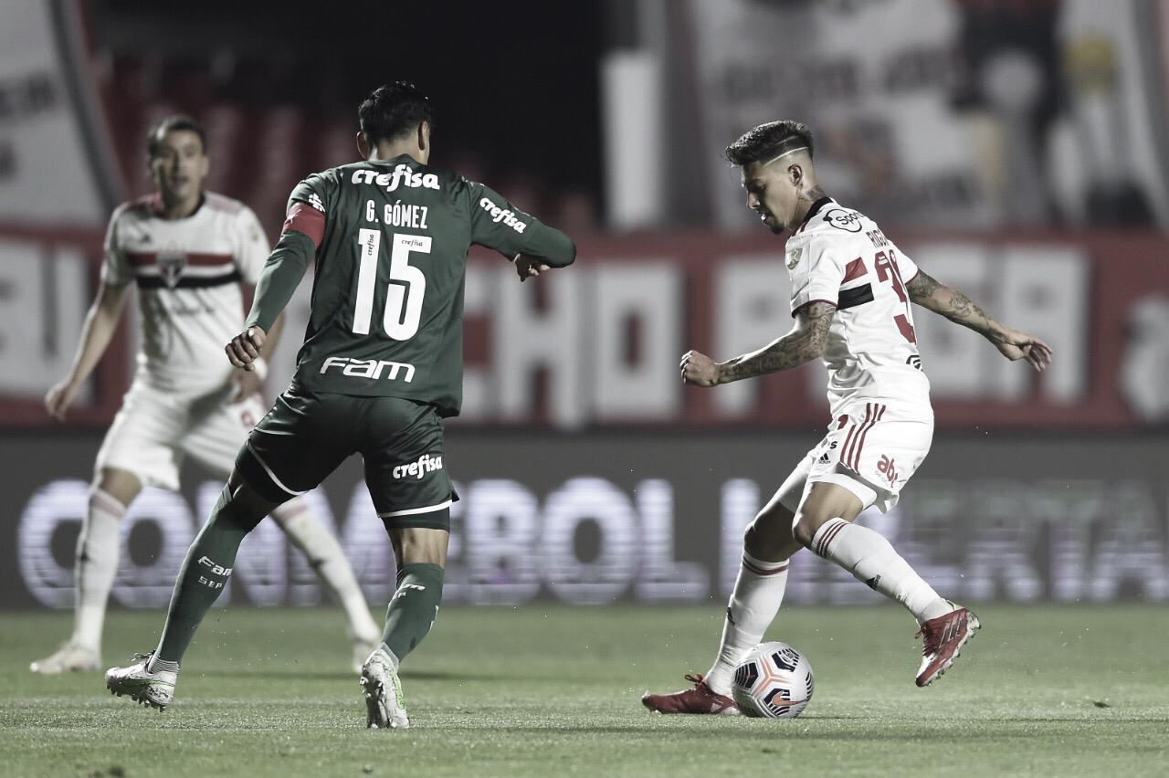 Com gols no segundo tempo, São Paulo e Palmeiras empatam pela Copa Libertadores