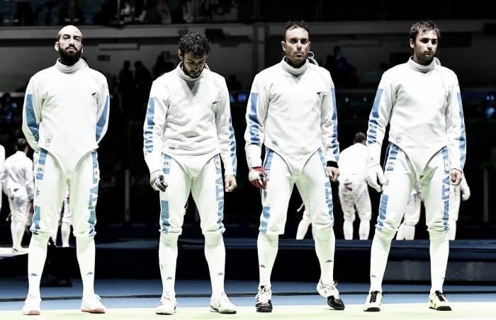 Italia Finale Spada a Squadre Uomini: Ucraina battuta (Scherma Rio 2016)