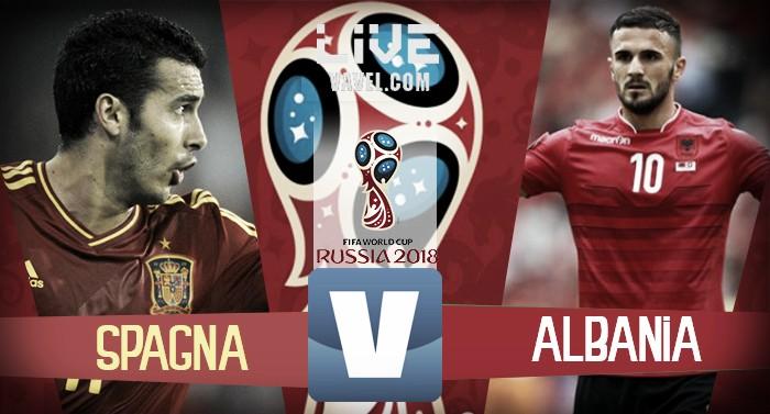 LIVE Spagna - Albania, terminata qualificazioni Russia 2018 (3-0): Rodrigo-Isco-Thiago, Roja in Russia