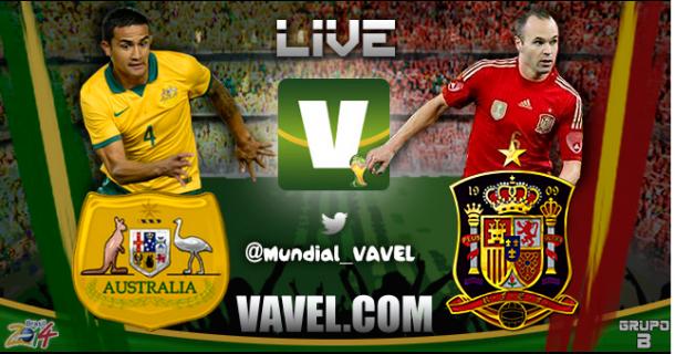 Live Australia - Spagna, Mondiali 2014 in diretta