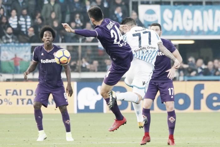 Fiorentina busca empate contra SPAL, mas chega à terceira partida sem vencer na temporada