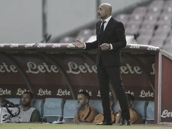 """Spalletti valoriza resultado diante do Napoli e critica Dzeko: """"Tem que fazer melhor"""""""