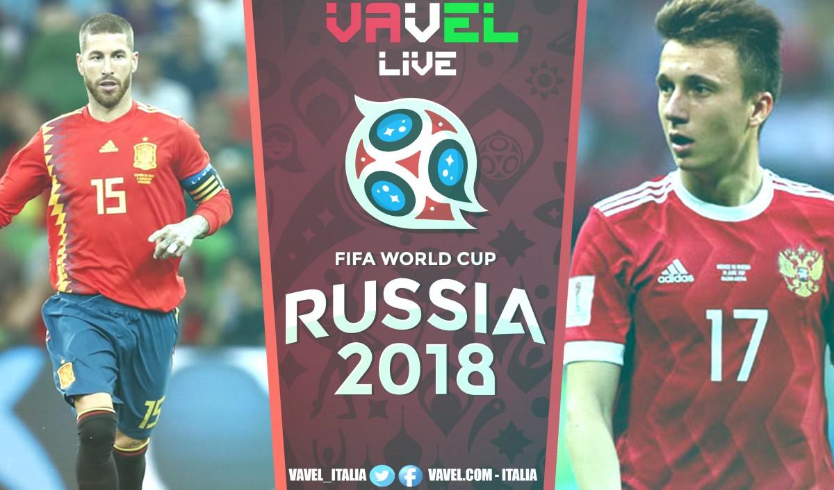 Terminata Russia - Spagna, LIVE Mondiali Russia 2018 RIG (4-3): La Russia vince ai rigori e vola ai quarti!