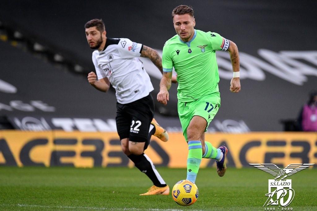 Serie A - Immobile e Milinkovic stendono lo Spezia: vince la Lazio 1-2