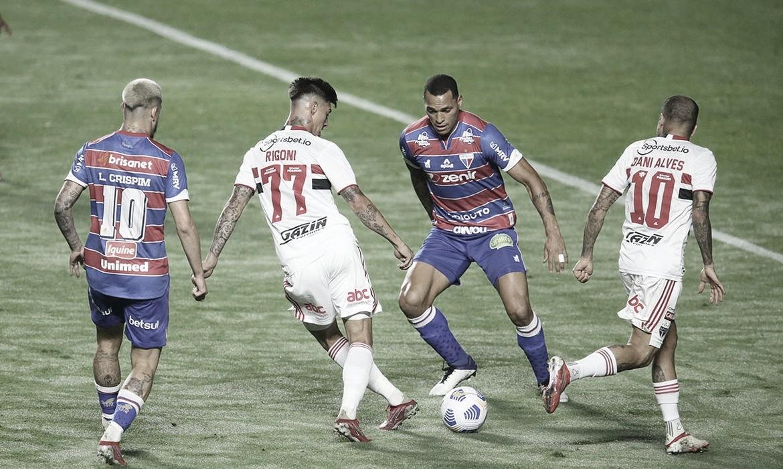 Após empate no jogo de ida, Fortaleza e São Paulo decidem quartas de final da Copa do Brasil